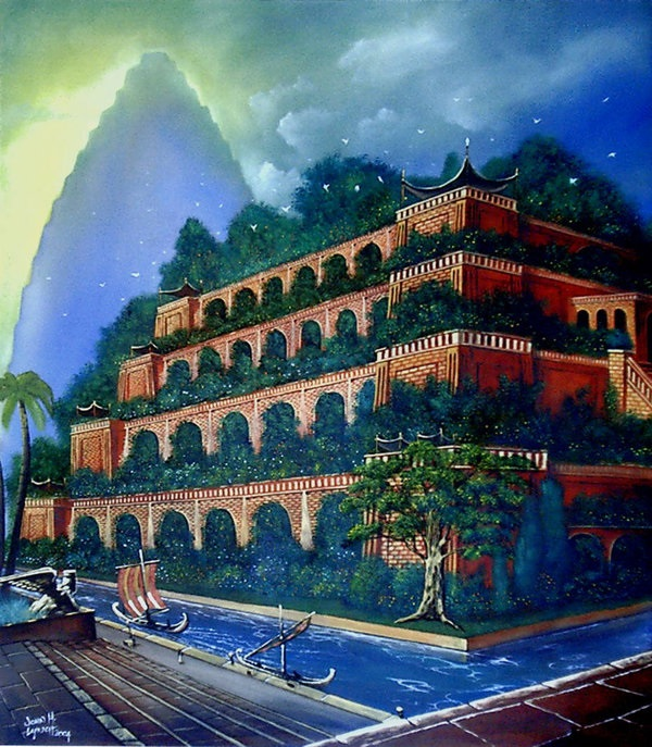 As 7 maravilhas do mundo antigo jardins suspensos da - Giardini pensili immagini ...
