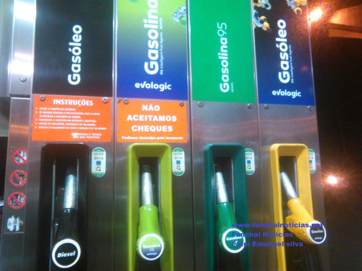 Gasolina desce e gasóleo sobe de preço na Madeira na próxima semana