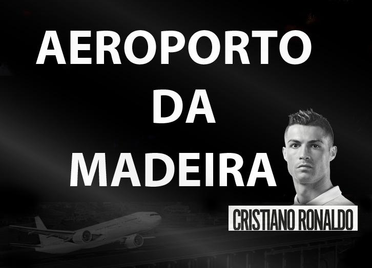 Aeroporto Cristiano Ronaldo : Letreiro luminoso cr no aeroporto da madeira funchal