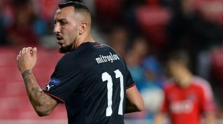 """Mitroglou tirou """"um golo da cartola"""" aos 80 minutos."""