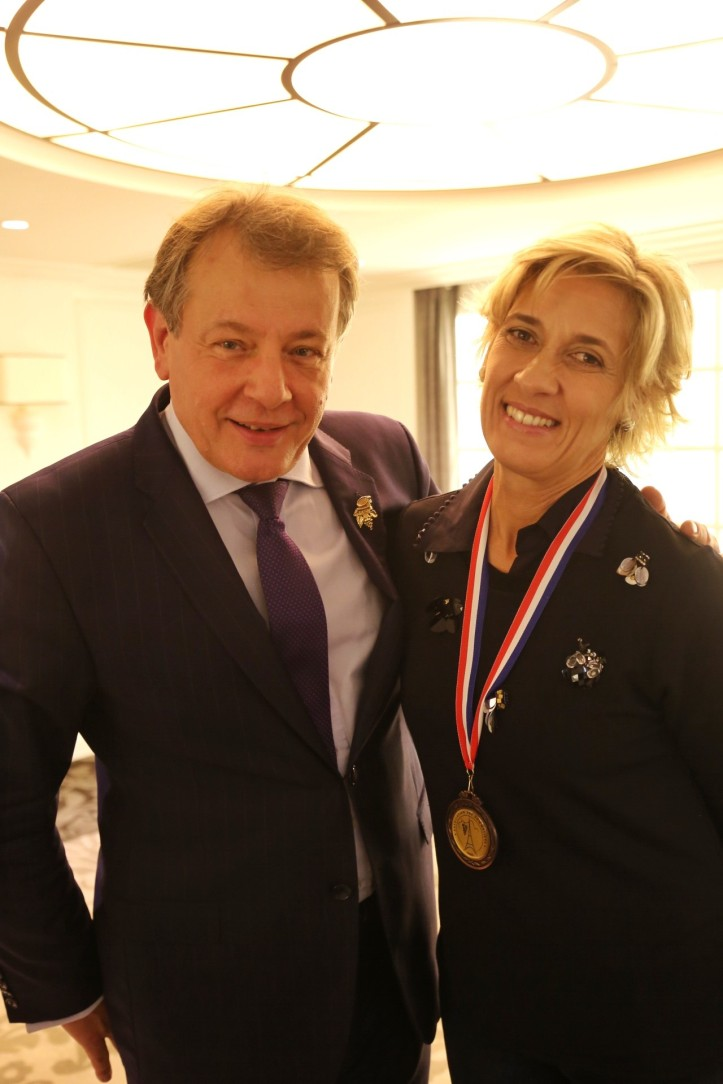 Presidente sommeliers de paris e Engª. Paula Duarte