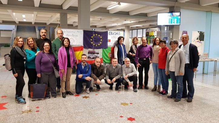 São Jorge-Grupo de professores na Escola de Feldkirch