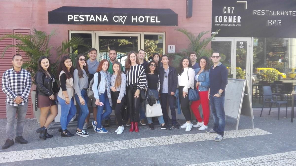 Alunos do Curso de Turismo da ESJM visitaram Pestana CR7 Hotel