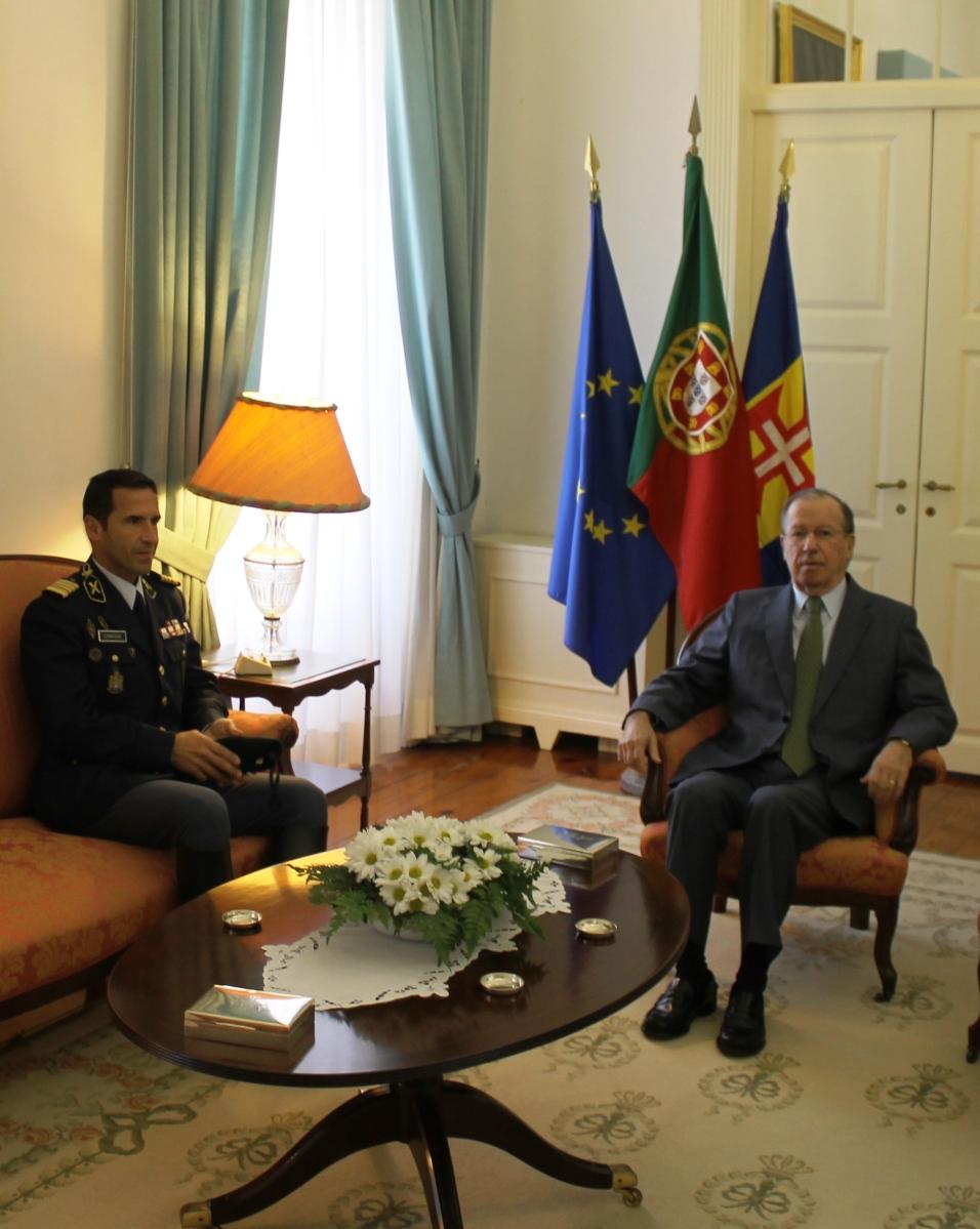 Novo comandante da GNR foi apresentar cumprimentos a Ireneu Barreto