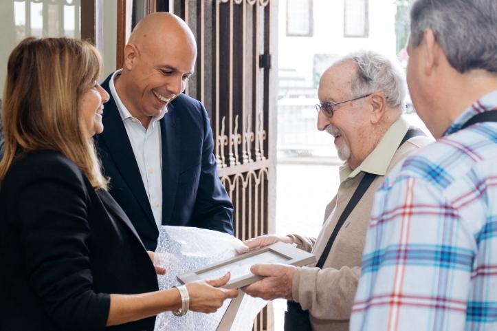 Cafofo recebe Gibraltino Louis Pereira