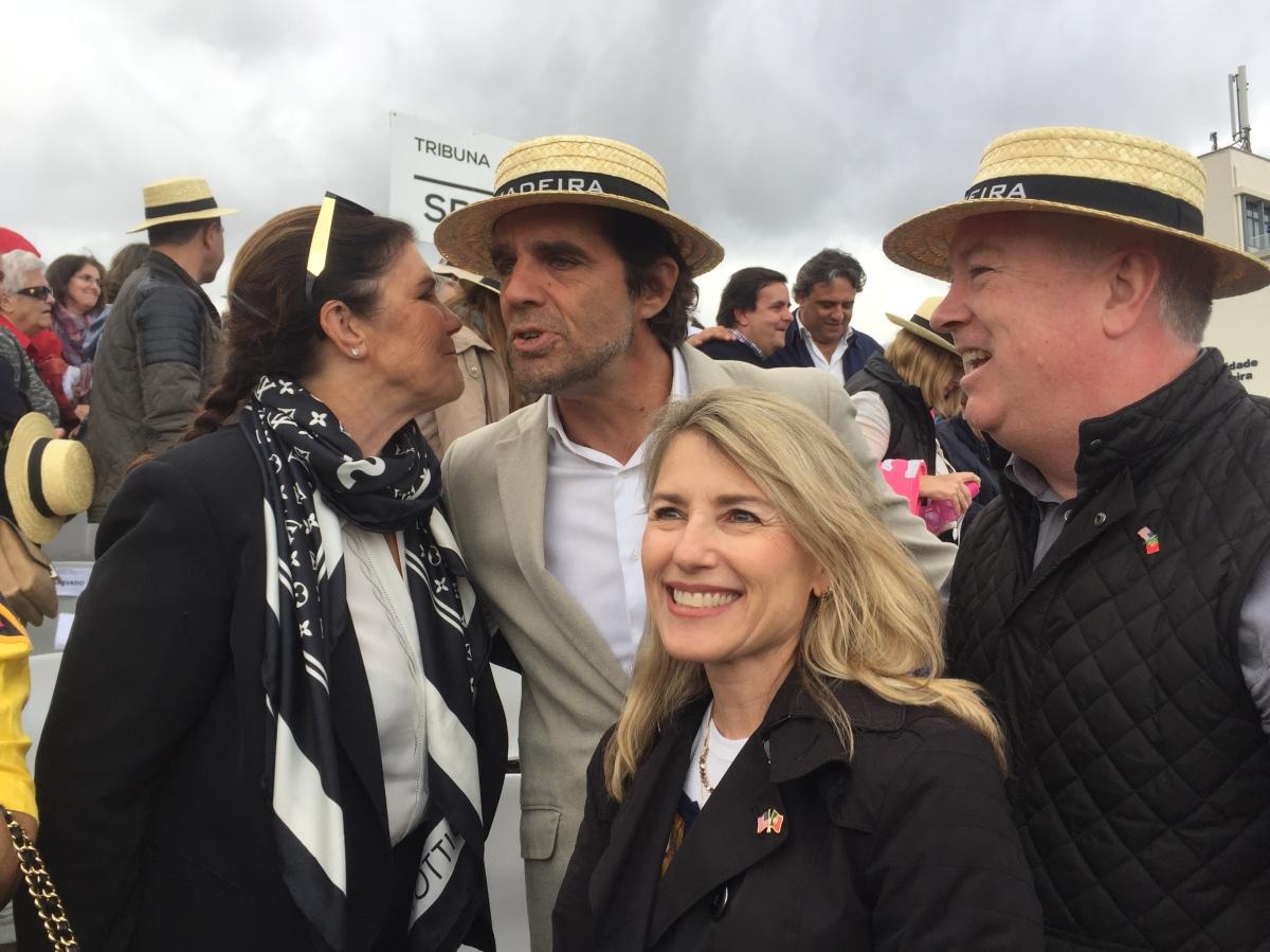 Albuquerque, Ireneu e Dolores Aveiro na festa das flores