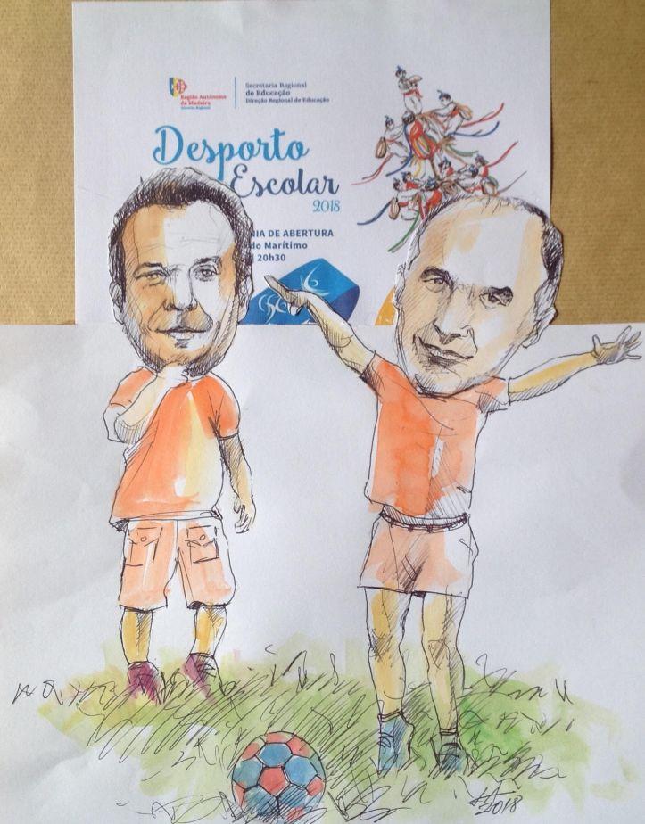 Despoerto escolar cartoon José Alves